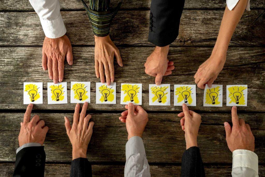 Brainstorming Ideen-Findung
